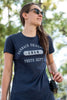 Barnack University T-Shirt, Navy, Womens, Small