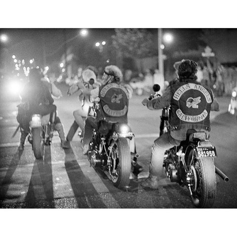 Hells Angels Riding Off at Night - 20x24- Edition of 25