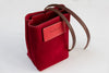 Arte di Mano Ever Dry Lens Pouch - Red Suede with Red Stitching