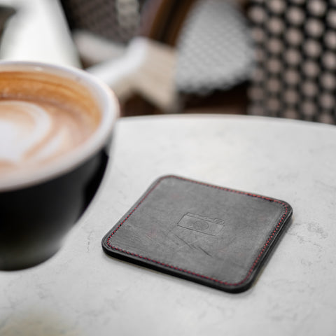 Mid-Century Leather Coasters (Set of 4)