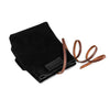 Arte di Mano Ever Dry Camera Pouch - Black Suede with Black Stitching