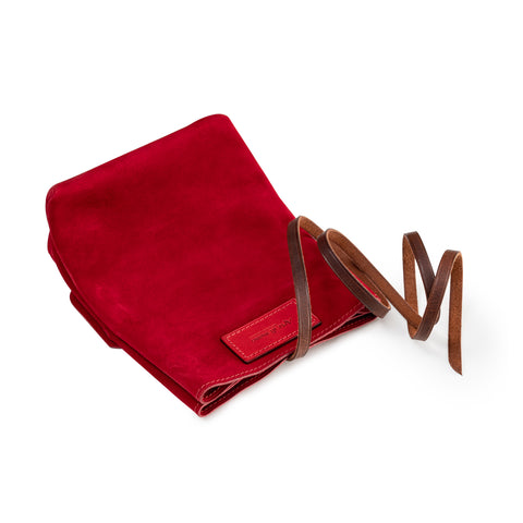Arte di Mano Ever Dry Camera Pouch - Red Suede with Red Stitching