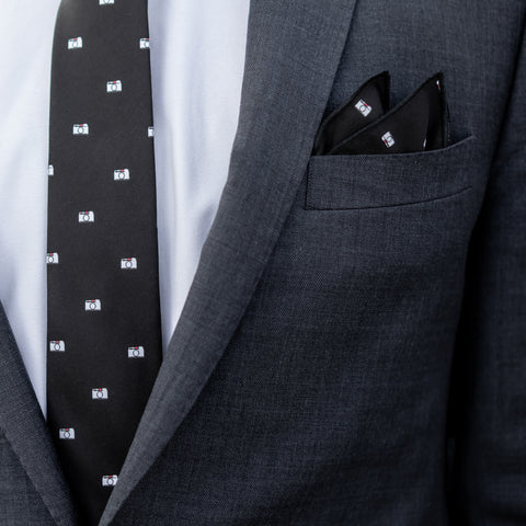 M Tie & Pocket Square
