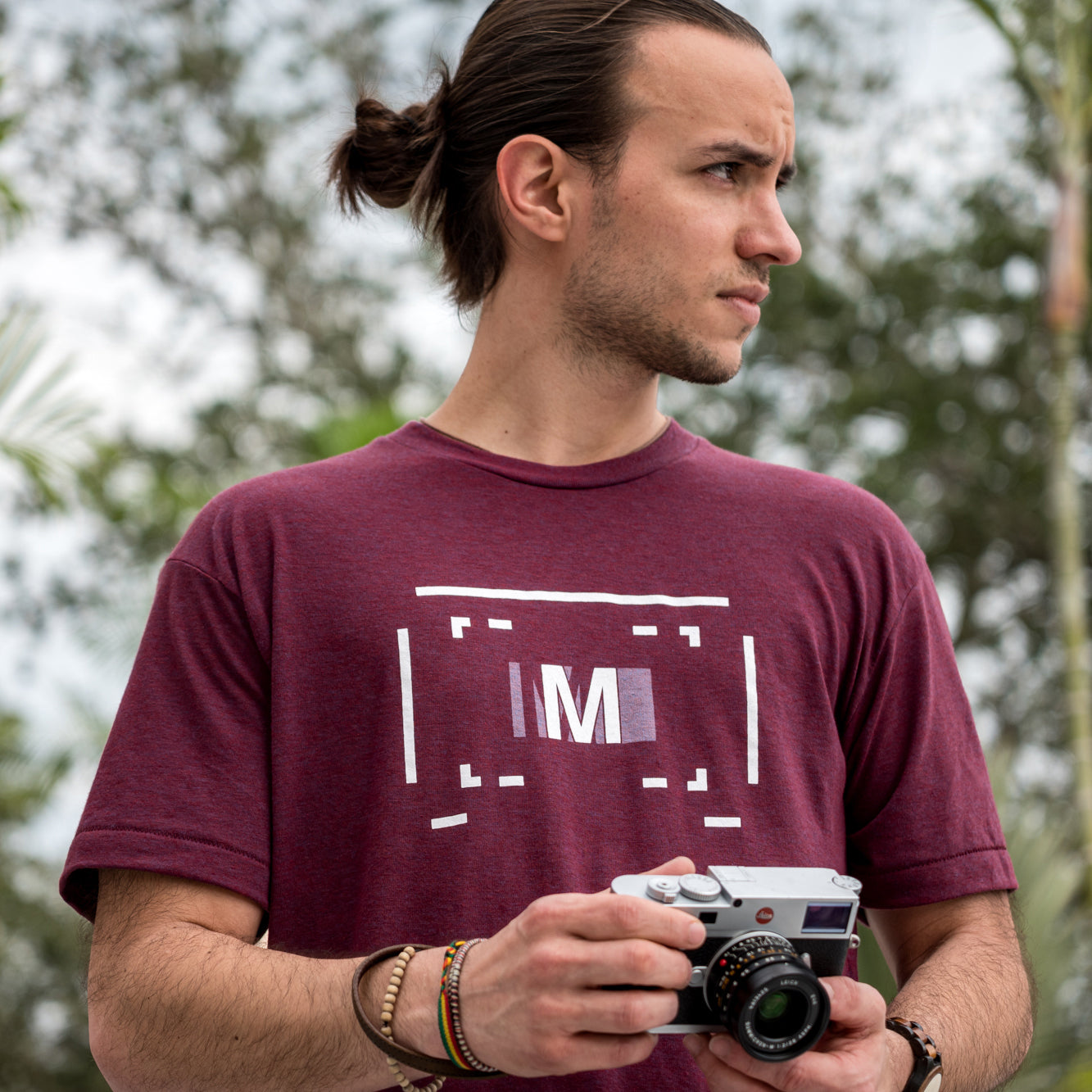 "Rangefinder ""M""  Focus Tee, Maroon, Medium"