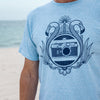 M3 Art Deco Tee, Tri-Light Blue, Large