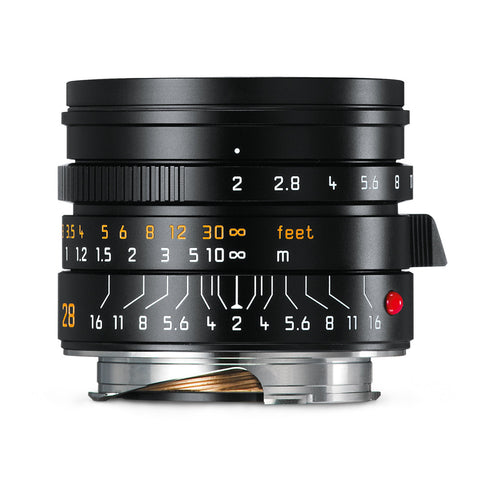 Leica Summicron-M 28mm f/2 ASPH, black