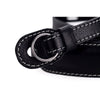 Leica Leather Neckstrap with protection flap, Black