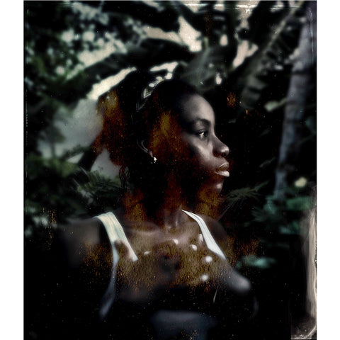 "Maggie Steber - 13x19"" Print - Philomene in the Garden, Artibonite Valley, Haiti, 2015"