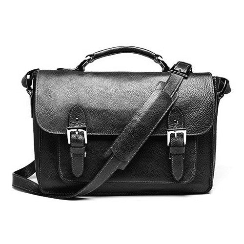 ONA Brooklyn Premium Leather Camera Satchel - Black