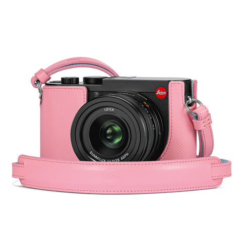 Leica Q2 Leather Carrying Strap, Pink
