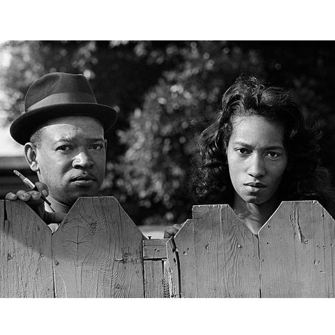 Black Couple at Fence - 20x24 - Edition of 25