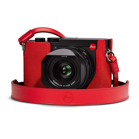 Leica Q2 Leather Carrying Strap, Red