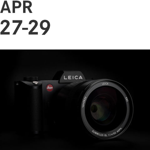 Leica SL Owner's Boot Camp   |   Fri, Apr 27, 2018, 10:00am - Sun, Apr 29, 2018, 4:30pm