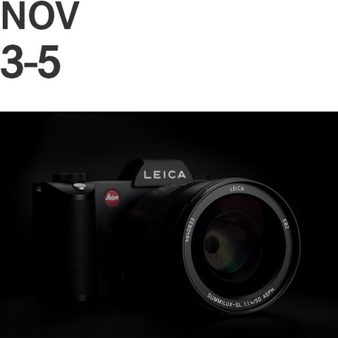 Leica SL Owner's Boot Camp   |   Fri, Nov 3, 2017, 10:00am - Sun, Nov 5, 2017, 4:30pm