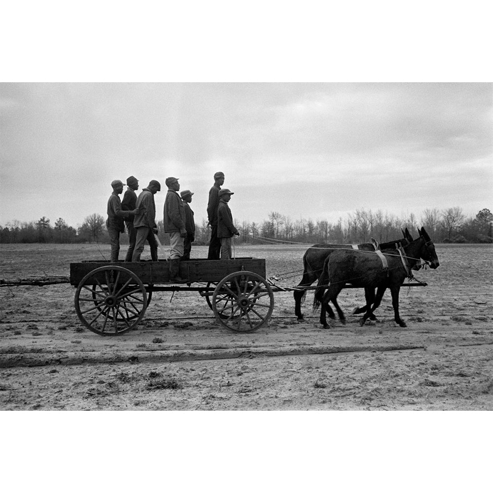 "Constantine Manos - 13x19"" Print - Sharecroppers on Cart, South Carolina, 1965"