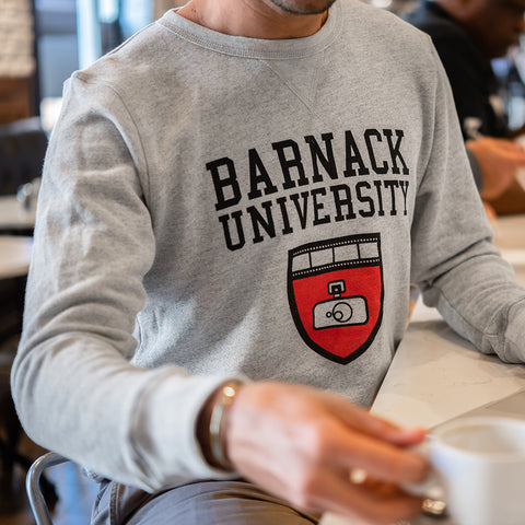 Barnack University Pullover Sweater 2018, Light Athletic Heather, Mens, Small