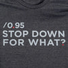 Stop Down For What T-Shirt, Womens, Large