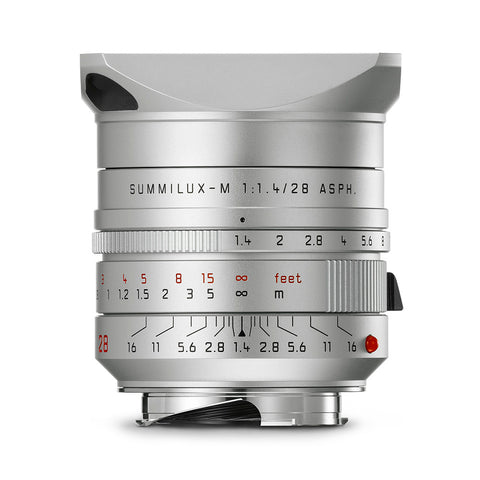 Leica Summilux-M 28mm f/1.4 ASPH, silver anodized finish
