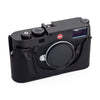 Arte di Mano Half Case for Leica M10 with Battery Access Door - Minerva Black with Black Stitching