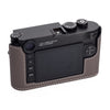 Arte di Mano Half Case for Leica M10 with Battery Access Door - Shrunken Calf Gray