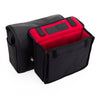 Oberwerth Harry & Sally Medium Leather Camera Bag, Black with Red Lining
