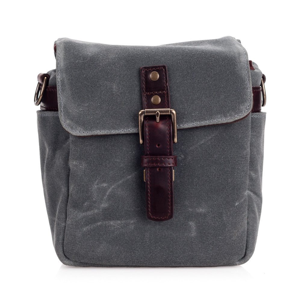 ONA Bond Street Canvas Camera Bag and Insert - Smoke