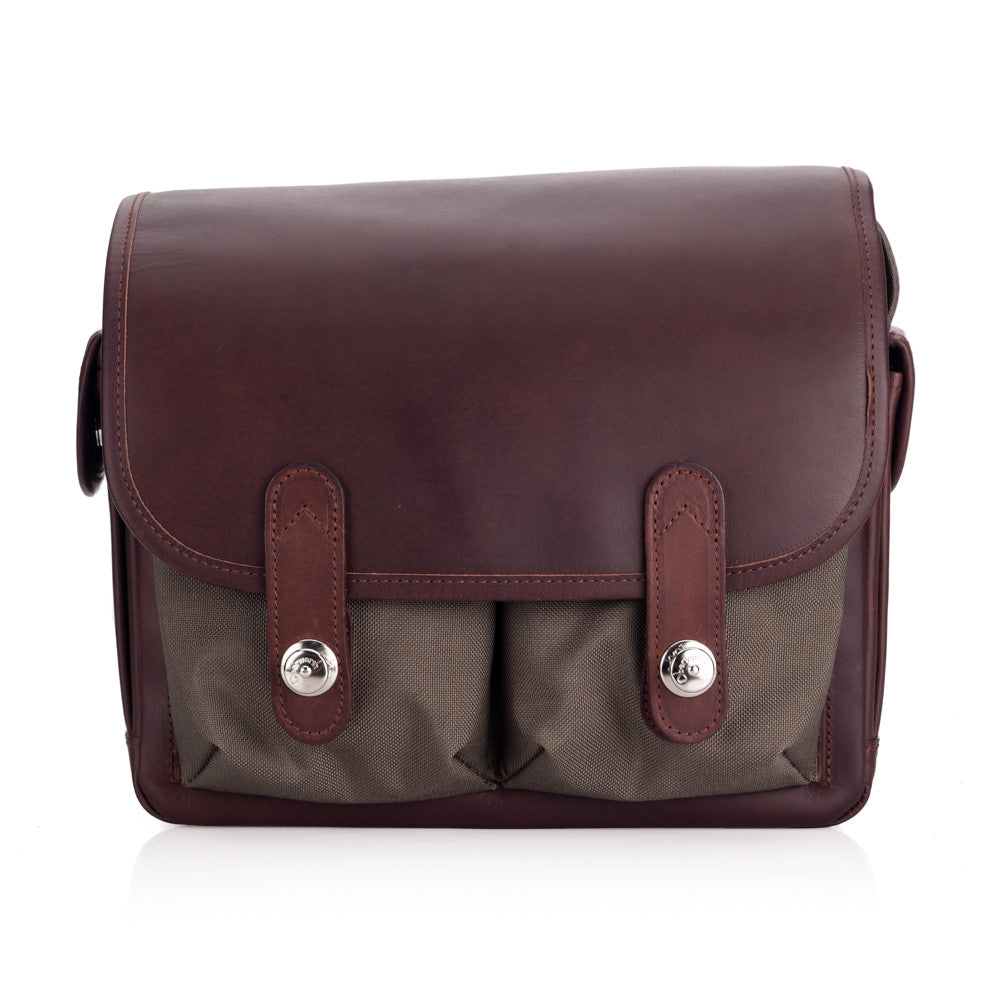 Oberwerth Wetzlar Medium Photo Bag - Cordura/Leather - Olive/Dark Brown