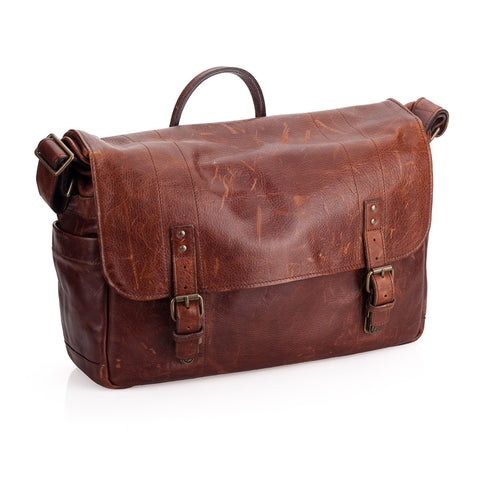 Used ONA Union Street Leather Camera and Laptop Bag - Walnut