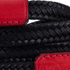 Arte di Mano Waxed Cotton Neck Strap - Black Cotton with Buttero Red Leather Accents