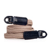 Arte di Mano Waxed Cotton Neck Strap - Beige Cotton with Bridle Navy Accents