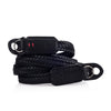 Arte di Mano 120cm Extra Long Waxed Cotton Neck Strap - Black Cotton with Minerva Black Leather Accents