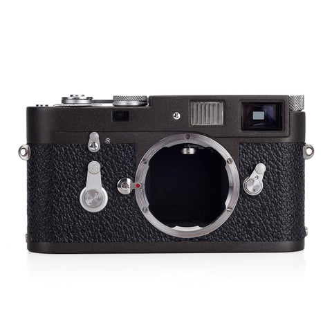 Used Leica M2 Lever Rewind Custom Paint  - Gunmetal on Black, Silver Accents