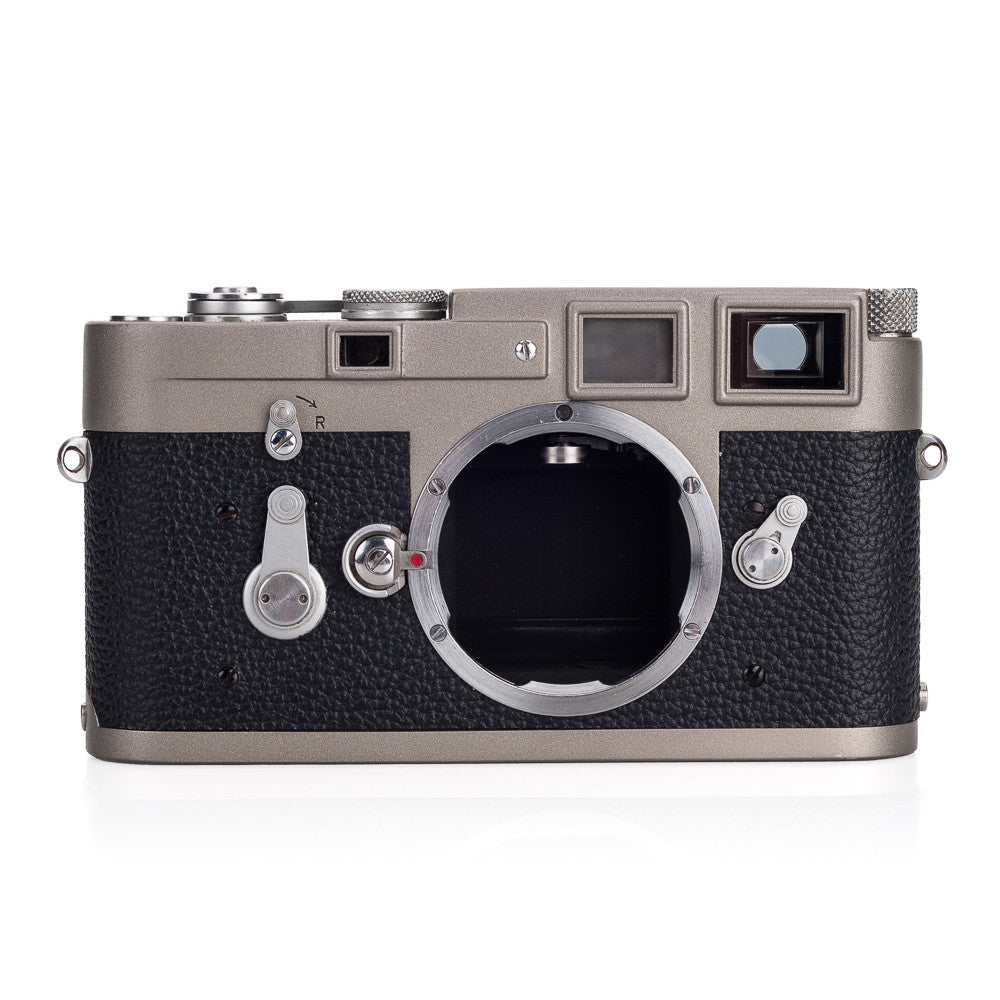 Used Leica M3 Single Stroke Custom Paint - Warm Grey on Black, Silver Accents