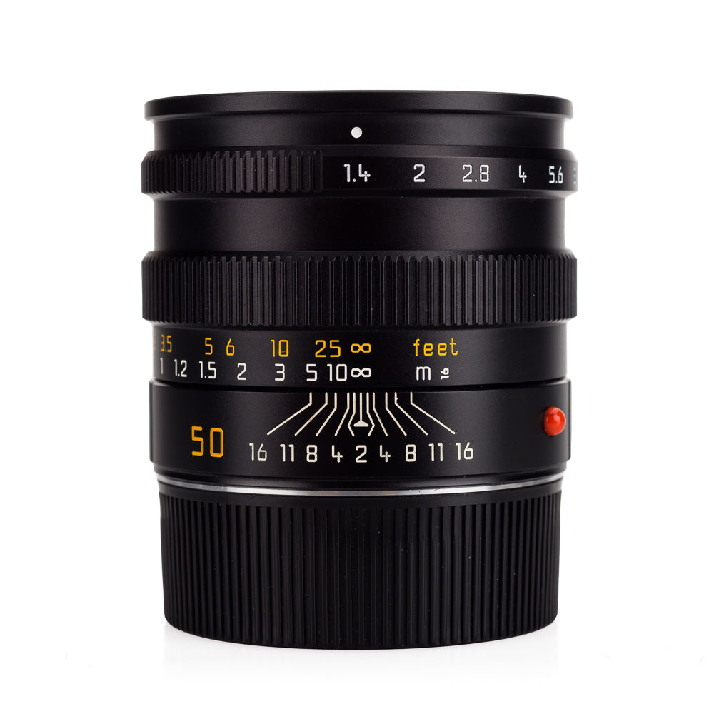 Used Leica Summilux-M 50mm f/1.4 Pre-ASPH E46, Black - 6-Bit (11868) - with UVa Filter