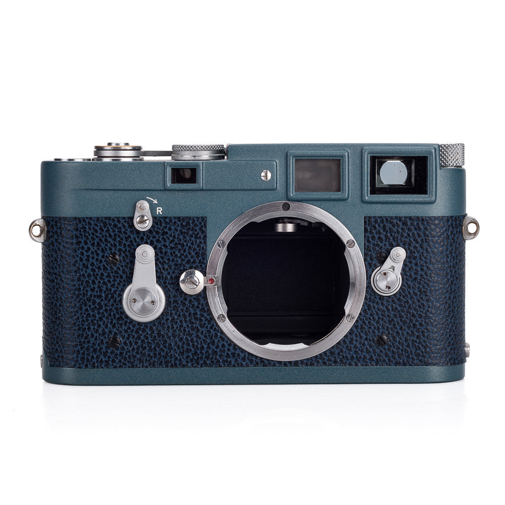 Used Leica M3 Single Stroke Custom Paint - Blue on Blue, Silver Accents