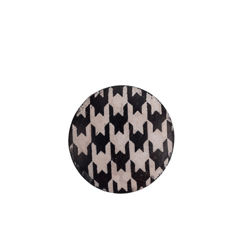 Artisan Obscura Houndstooth, Large Convex Soft Release, Ebony