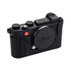 Arte di Mano Aventino Half Case for Leica CL with Battery Access Door - Minerva Black with Black Stitching
