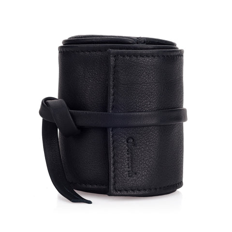 Oberwerth Leather Lens Wrap, Black, Medium