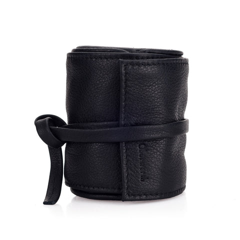 Oberwerth Donau Leather Lens Wrap, Black, Small