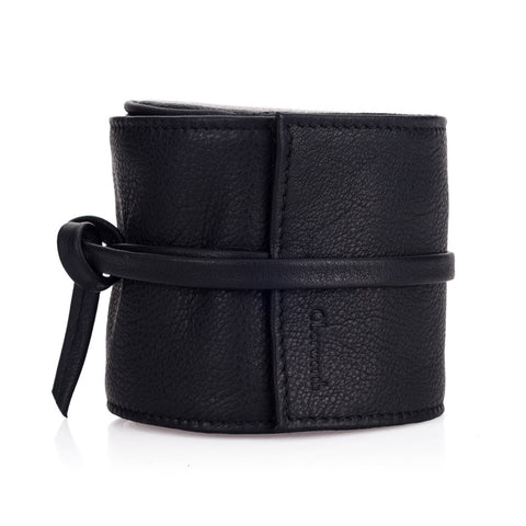 Oberwerth Donau Leather Lens Wrap, Black, Extra Large