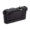 Arte di Mano Half Case for Leica CL - Minerva Black with White Stitching