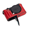 Arte di Mano Half Case for Leica CL with Battery Access Door - Buttero Red