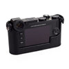 Arte di Mano Half Case for Leica CL with Battery Access Door - Minerva Black with Black Stitching