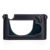 Arte di Mano Aventino Half Case for M8/M9/M-E/Mono - Minerva Black with White Stitching