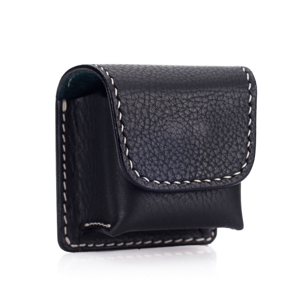 Arte di Mano Leather Pouch for Leica EVF2 - Minerva Black with White Stitching