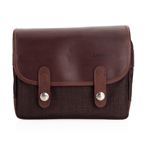 Oberwerth Freiburg Photo Bag - Cordura/Leather - Dark Brown/Dark Brown