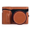 Arte di Mano Half Case + Semi Cover + Lens Cover for the Leica T (Typ 701) in Barenia Tan