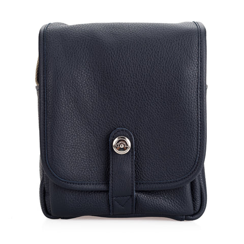 Oberwerth George Leather Camera Bag, Dark Blue