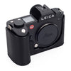 Arte di Mano Half Case for Leica SL (Typ 601) - Minerva Black with Black Stitching