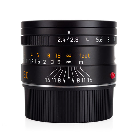 Certified Pre-Owned Leica Summarit-M 50mm f/2.4, Black Anodized